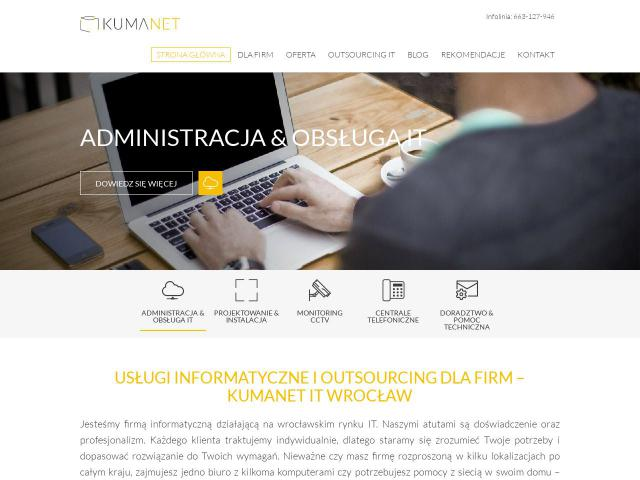 Kumanet - Outsourcing IT Wrocław • Kamery internetowe do monitoringu